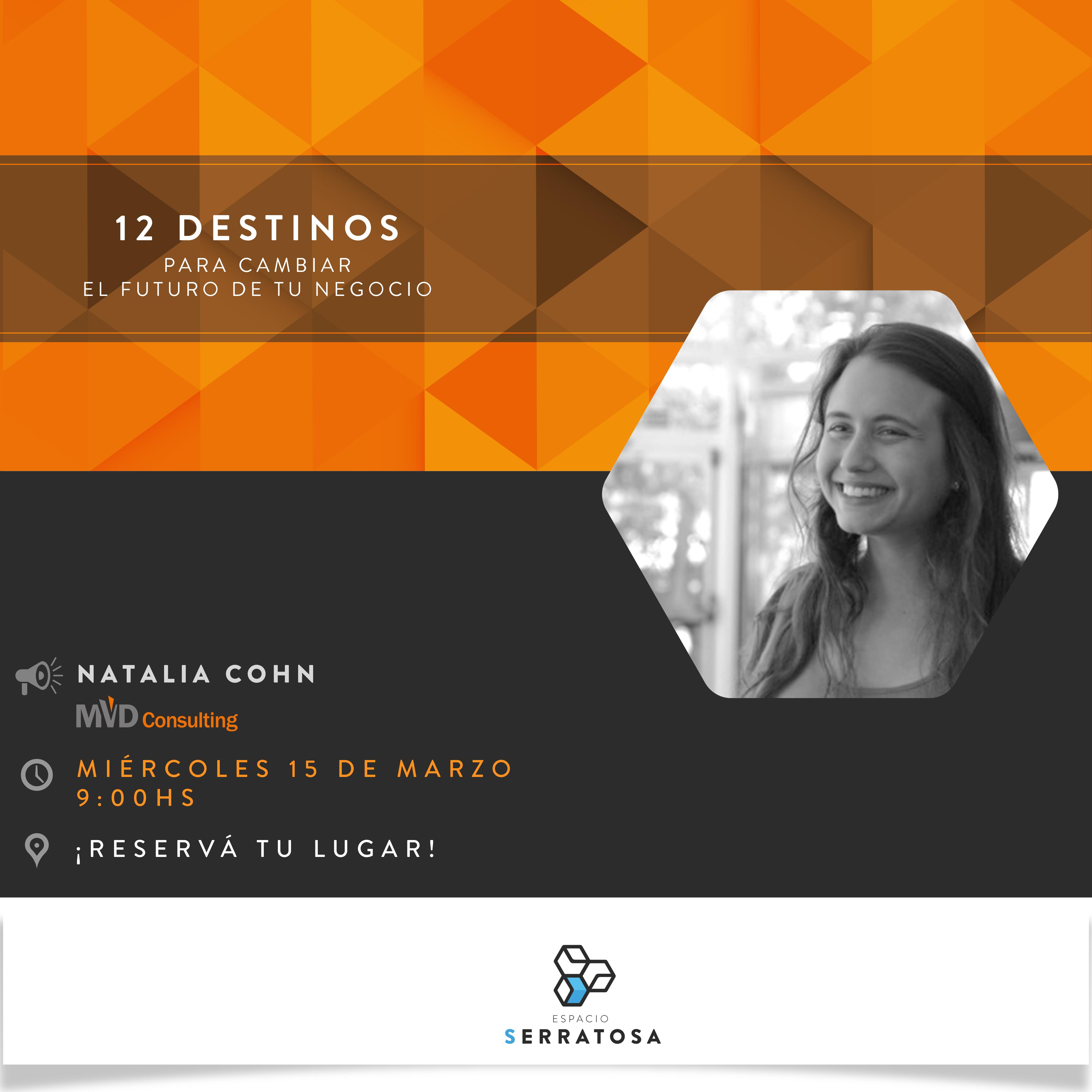 """Presentación de Investigación: """"12 Destinos que pueden cambiar el futuro de tu negocio""""  en Espacio Serratosa"""