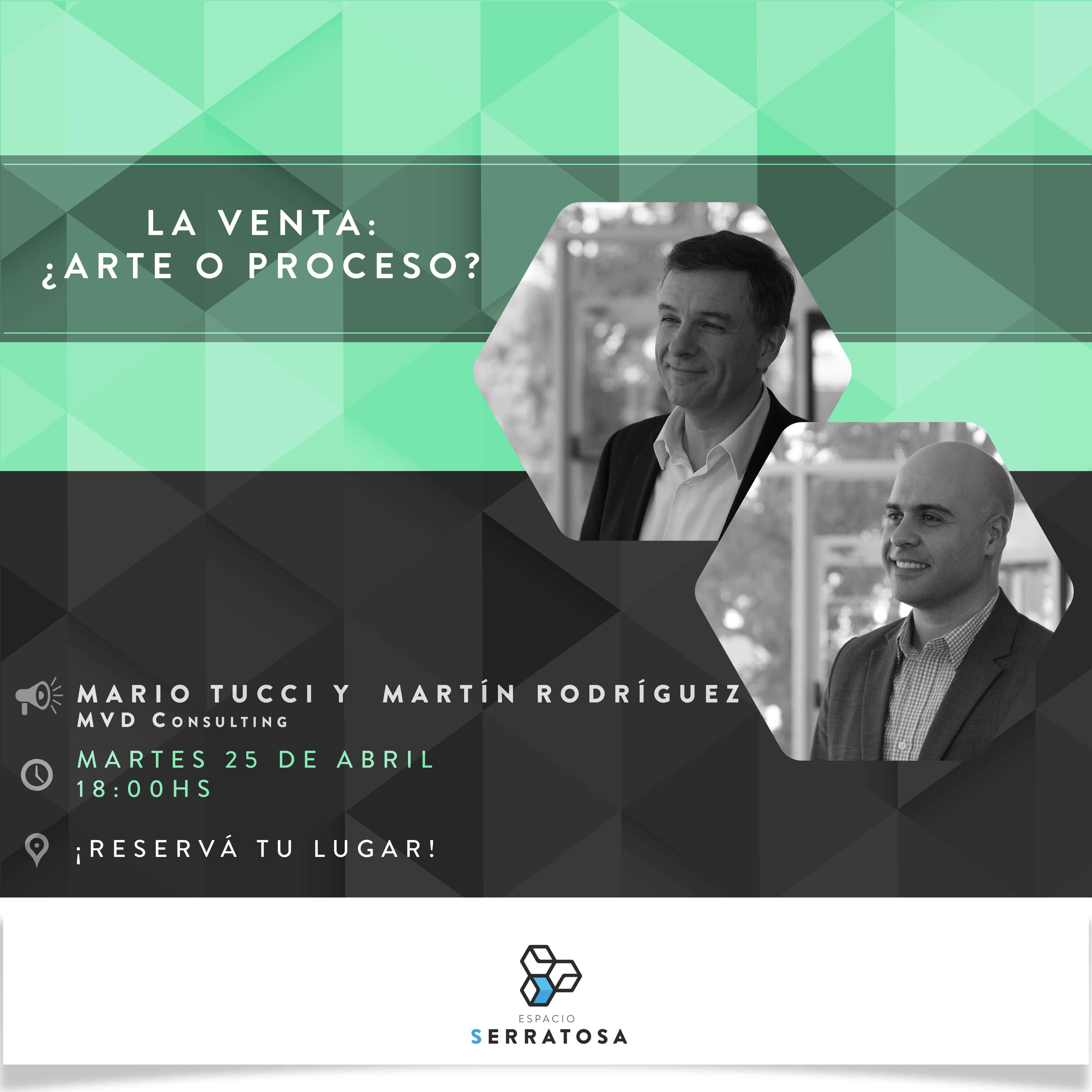 """""""La venta: arte o proceso?"""" 25 de Abril en Espacio Serratosa"""